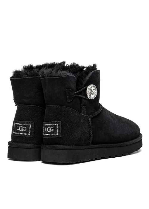 UGG W Mini Bailey Button Bling (1016554-BLK)